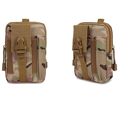 EULAGPRE 1x Männer Military Tactical Wasserdichte Taille Sporttaschen  Geldbörse Mini Outdoor Taschen CP color 89db5caea6