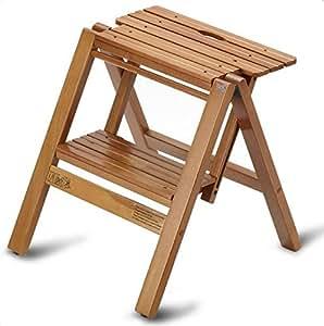 tabouret escabeau pliant catania en bois massif coloris merisier h74 5 x l44 5 x p7 5 cm. Black Bedroom Furniture Sets. Home Design Ideas
