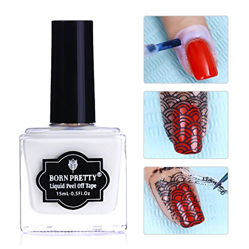 Born Pretty 2 Bottles Nail Art Peel Off Nail Latex Cuticle Guard Manicure Liquid Tape Finger Skin Protecter 2 Flavors
