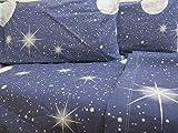 Pago Poco Novita !! Bettwäsche-Set für französisches Bett aus weichem und warmen Flanell Luna Reine Baumwolle 100%
