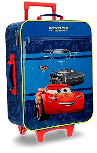 Disney Racing Series Equipaje Infantil, 50 cm, 25 Litros, Azul