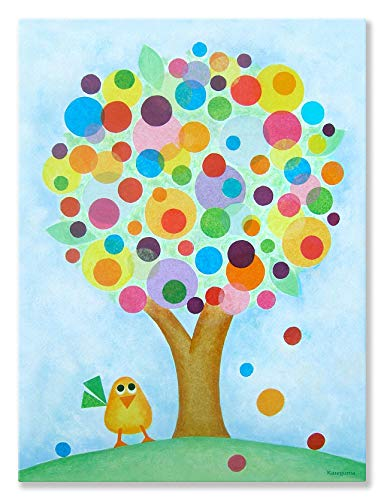 Gumball Dot (Oopsy Daisy Gumball Tree von Gale Kaseguma Leinwand Wand Art, 18 by 24)