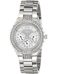 Guess Damen-Armbanduhr Analog Quarz Edelstahl W0111L1