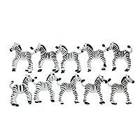 Miniblings 10X Zebra Toy Figures Figurines African Zebras White Black