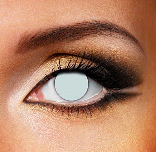 Funky Vision Kontaktlinsen - 3 Monatslinsen, Blind White, Ohne Sehstärke, 1 Stück