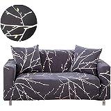 ENZER Sofa Schonbezug Stretch Elastischer Stoff Blumen Vogel Muster Sessel Doppelschlaf Couch Neue Kleidung, PET Hund Displayschutzfolie, Tree Branch, 2-Sitzer