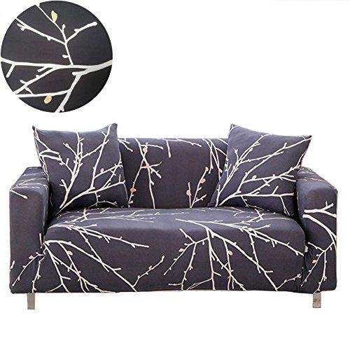 Enzer copridivano sofa salotto protettore imbottito mobili copertura fiore uccello panno antiscivolo divano protector(albero filiali,2 posti / 145-185cm)