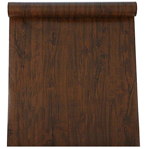 Wasserdicht Faux Holz Vinyl Kontakt Papier Selbstklebende Regalen für Küche Schränke Tisch Schrank Schublade Kommode Arbeitsfläche Schreibtisch Möbel Aufkleber 61cm von 16Füße (Birke 5-regal Bücherregal)