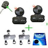 für 2x BMW Funkschlüssel Schlüssel Tastenfeld Gummi + 1x Batterie CR2016 + 2x Kontaktfolie