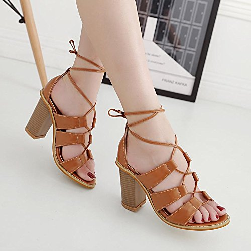 YMFIE personnalité sexy d'été fashion chaussures chaussures fines et creuses,38 EU,un