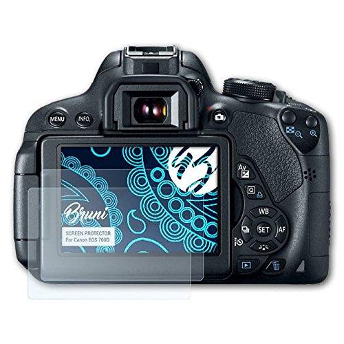 Bruni Schutzfolie für Canon EOS 700D / Rebel T5i Folie, glasklare Displayschutzfolie (2X)