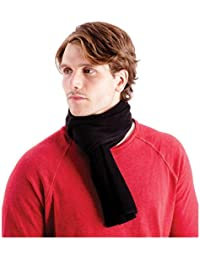 OCTAVE® Mens Black Polar Fleece Super Soft Scarf - Warm, Soft & Durable