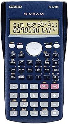 Casio FX-82MS-SC-EH-B - Calculadora científica (240 funciones, 24 niveles de paréntesis), color azul