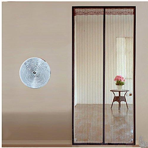 Fliegengitter Magnetische Tür-mesh Mit heavy duty Velcro Panel-vorhänge Insekten fernhalten Sommer Pin-A 120x240cm(47x94inch)