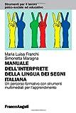 Image de Il manuale dell'interprete della lingua dei segni