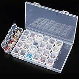 starnearby plástico transparente joyas almacenamiento organizador de contenedores caso caja de herramientas para uñas arte pendientes perlas de collar con divisores ajustables 28Grids
