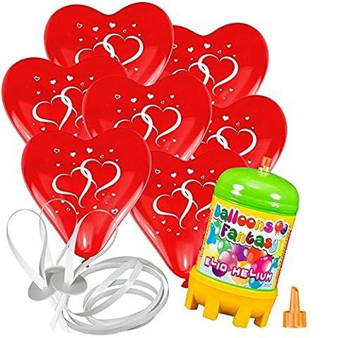 50x Herzballons