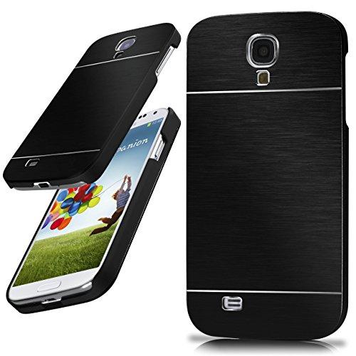 moex Samsung Galaxy S4 | Hülle Dünn Schwarz Aluminium Back-Cover Schutz Handytasche Ultra-Slim Handy-Hülle für Samsung Galaxy S4 / S IV Case Metall Schutzhülle Alu Hard-Case Aluminium Hard Case