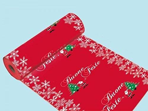 Passatoia moquette rossa fantasy h100 al mt tappeto pavimento natale natalizia