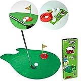 Somedays Mini-Golf Jeu de Golf Toilette Ensemble de Golf avec Balles Jouet de Loisir et de Sport...