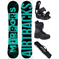 AIRTRACKS SNOWBOARD SET - TABLA MIRRORS NEON WIDE 166 - FIJACIONES STAR - BOTAS STAR BLACK 46 - SB BOLSA/NUEVO