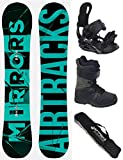 Airtracks SNOWBOARD SET - BOARD MIRRORS NEON WIDE 163 - SOFTBINDUNG STAR - SOFTBOOTS STAR SCHWARZ 43 - SB BAG