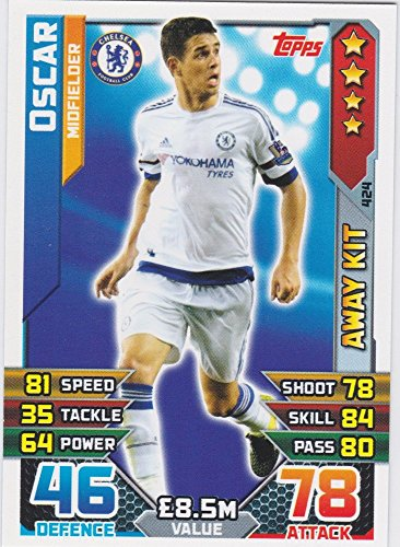 Match Attax 2015/2016 Oscar Chelsea Away Kit Trading Card 15/16 -