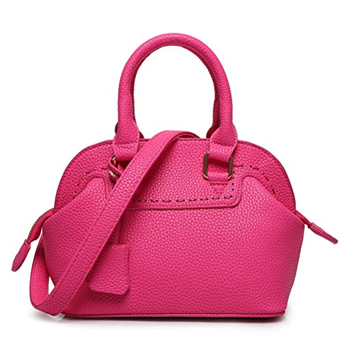 Women Tote Pu All Seasons Casual Baguette Zipper Giallo Nero Beige Rosso Rosa Rosso Rosso , Beige rose red