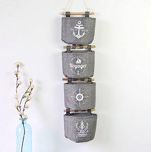Et Bürste, Holzstäbchen (Ebeta Hängende Tasche Aufbewahrungstasche Hängeorganizer Wand Tür Organizer Utensilientasche 4er Set Grau)