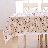 Foxi Aus stoff Einfache Tischtuch,Längliche tischdecke Roundtable Küchentisch tuch-A 100x150cm(39x59inch)