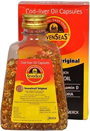Seven Seas Original Pure Vitamin Rich Cod-Liver Oil Capsules- 500...