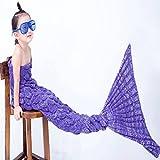 Geschenke Für Mädchen Meerjungfrau Tail Decke Für Kinder Handgemachte Häkeln Meerjungfrau Decke Beste Geburtstagsgeschenk Persent Für Kinder Von,Purple-70 * 140cm