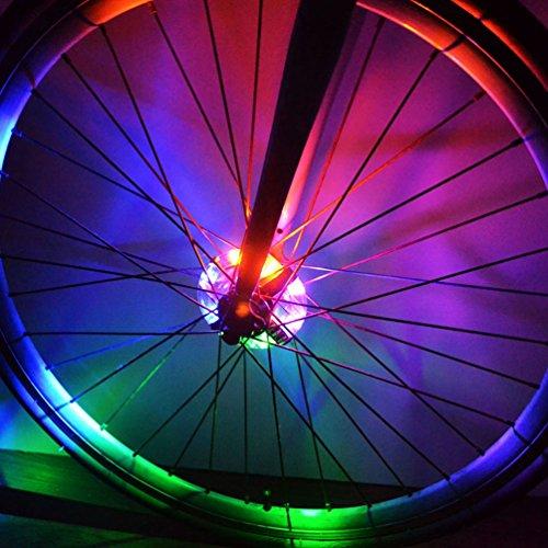 NuoYo Modell Fahrradlicht Wasserdicht Vorne/Hinten Radlicht Benuzt für Sicherheit und Warnung LED Lampe Motorrad Zubehör,12-Stunden kontinuierliche glänzend,Bunte (Bunte Fahrrad-lichter)