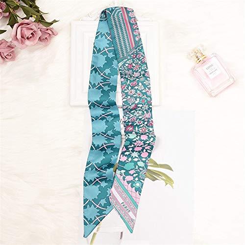 �Schal Marke Silk Schal Für Frauen Paris Brief Drucken Lange Tasche Schal Griff Tasche Bänder Kopftücher 082002-1 ()