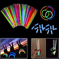 "8"" dazzling toys Brand Glowsticks Glow Stick Bracelets Mixed Colors - Tube of 100 (D001)"
