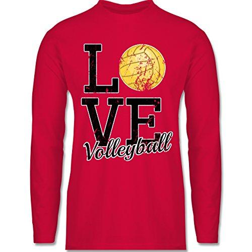 Shirtracer Volleyball - Love Volleyball - Herren Langarmshirt Rot
