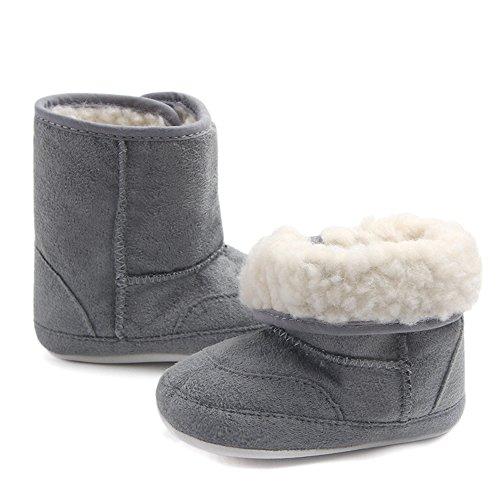 TININNA Baby Mädchen Jungen warme Schnee Stiefel Anti-Rutsch Prewalker Schuhe Kleinkind Winter Plüsch Booties Krippe Schuhe EINWEG Verpackung (Kleinkind Größe 9-schnee-stiefel-jungen)