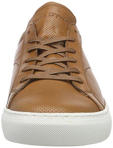 Marc O'Polo Sneaker, Baskets Basses homme Marron - Braun (cognac 720)