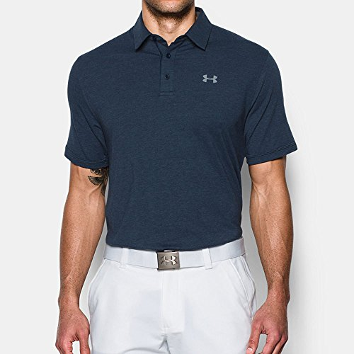 Under Armour Herren Charged Cotton Scramble Polo Kurzarmshirt Academy, Academy