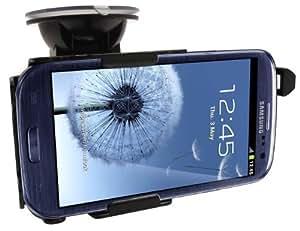 Haicom KFZ-Halterung mit 360° Rotation und Saugfuß für Samsung Galaxy S3 / SIII / I9300 vibrationsfreies 1-Klick Befestigungssystem PDA-Punkt