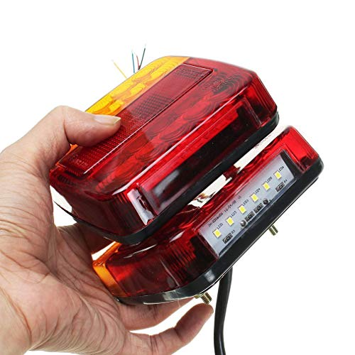 2pcs Led Luce Posteriore Fanale Posteriore Luce Stop Segnale Di Svolta Targa Lampada Per Veicolo Ricreativo Camion Rimorchio Jpstyle