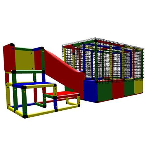 move and stic 6010 - großer Spielturm Lilly mit Kriechtunnel und Bällebad