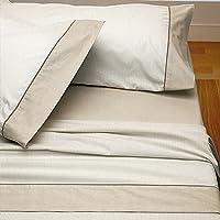 Burrito Blanco - Juego de sábanas Claro de Luna 297 para cama 150x190/200 cm, color beige