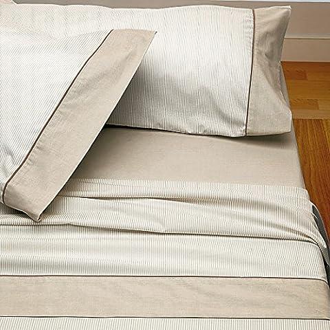 Burrito Blanco - Juego de sábanas Claro de Luna 297 para cama 90x190/200 cm, color beige
