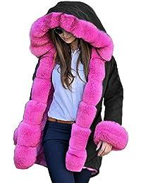 4b7cb6dbf03a2 Roiii Winter Warm Long Jacket Outerwear Ladies Parka Vintage Fur Hood Coat  8-18