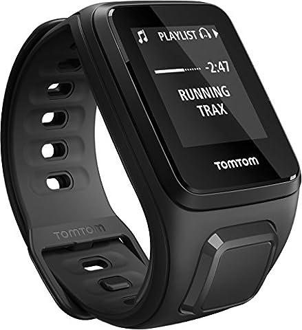 TomTom Spark Cardio + Music - Montre Fitness GPS - Bracelet Fin Noir (ref 1RFM.003.03)