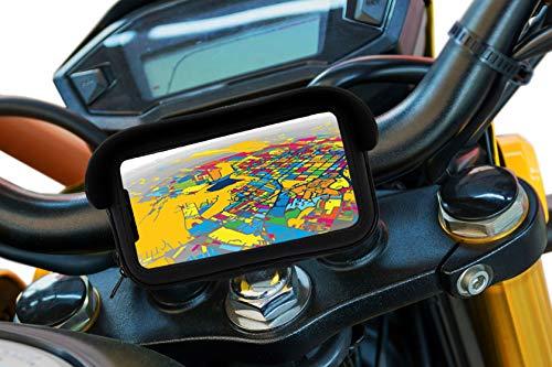 Soporte movil para Moto con Cargador 2.1A Carga rapida Funda Protectora...