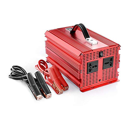Este inversor de corriente de onda sinusoidal modificada convierte 12V DC voltaje en 220V-240V AC voltaje Por lo que puede usarse para operar hasta 2000 vatios de 230V, 220V, 240V con dispositivos (portatil, television pequeña, radio, etc.) en su ...