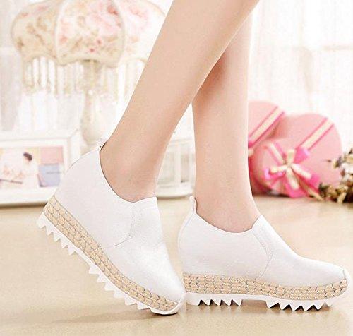 BaiLing Damen Sommer Sandalen / Sneaker mit High Heel Handgefertigte gestrickte / Mode Damen kleine Größe Schuhe White