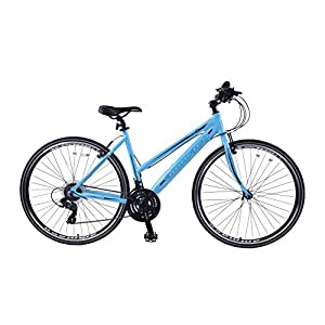 "51hFphsEi%2BL. SS300  - Ammaco CS300 WOMENS HYBRID SPORTS BIKE 700C WHEEL 21 SPEED ALLOY 16"" FRAME BLUE"